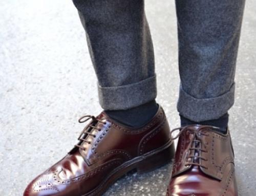 کفش کبود و شلوار طوسی مردانه