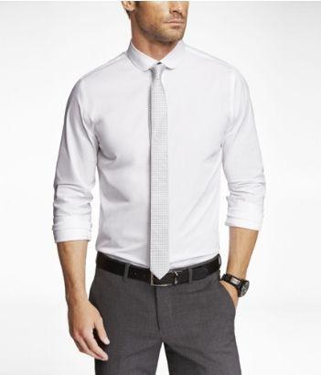 شلوار طوسی با پیراهن سفید