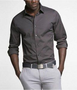 ست پیراهن طوسی مردانه