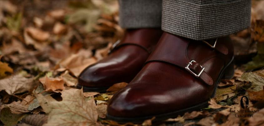 ست کفش دابل مونک استرپ با شلوار فاستونی