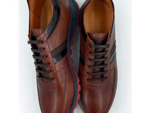 کفش چرم اسپرت قهوه ای (مدل فیلادلفیا)