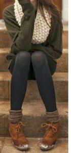 جوراب شلواری با پوتین ساقدار